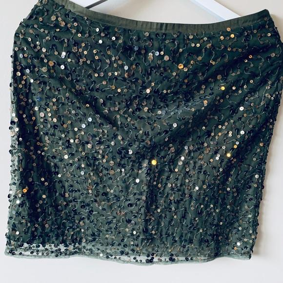 noa noa Dresses & Skirts - Noa Noa Green Sequin Skirt
